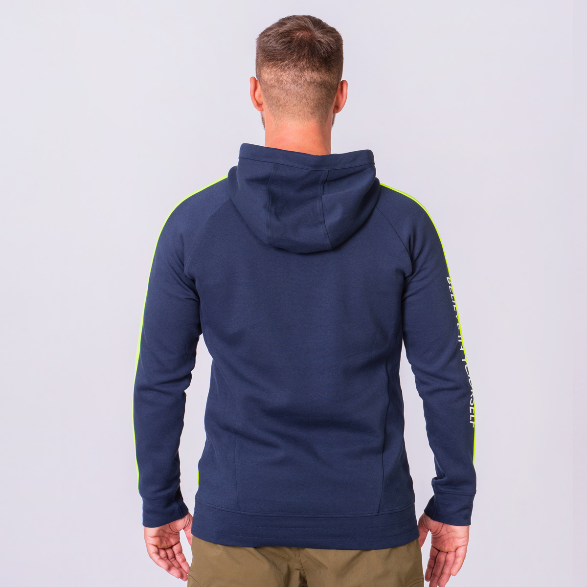 Function Color Blocking Hoodie for Men in Navy | Gym Aesthetics