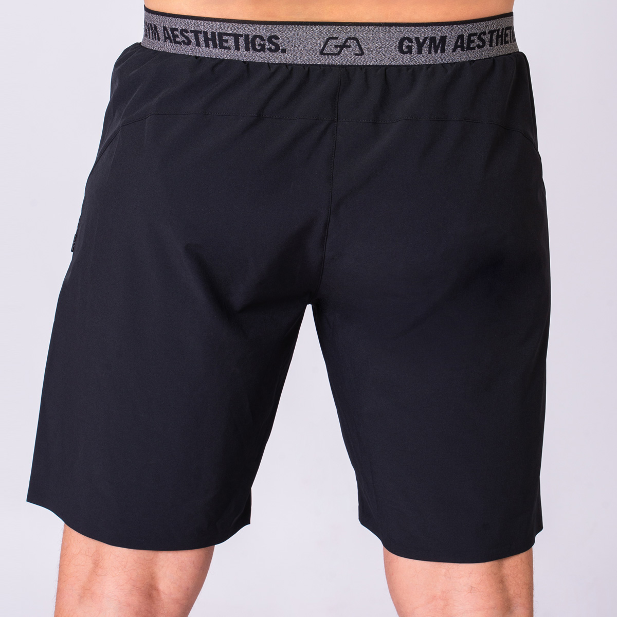 Essential 9 inch Shorts for Men in Black | Gym Aesthetics