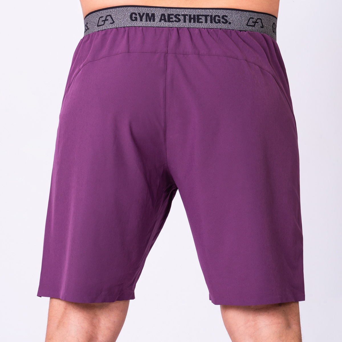 Essential 9 inch Shorts for Men in Purple | Gym Aesthetics