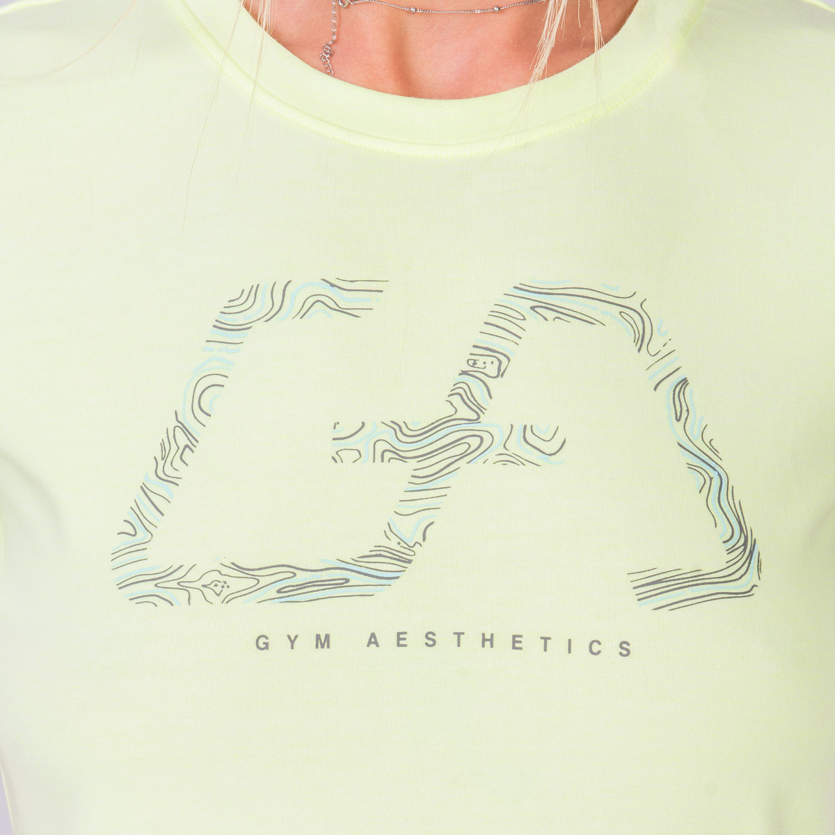 Activewear Cotton Touch Loose-Fit T-Shirt for Women in Safety Yellow | Gym Aesthetics