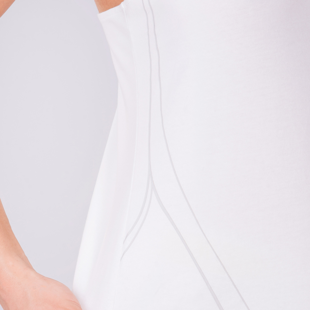 Activewear Cotton Touch Tank Top Y Back for Women in White | Gym Aesthetics