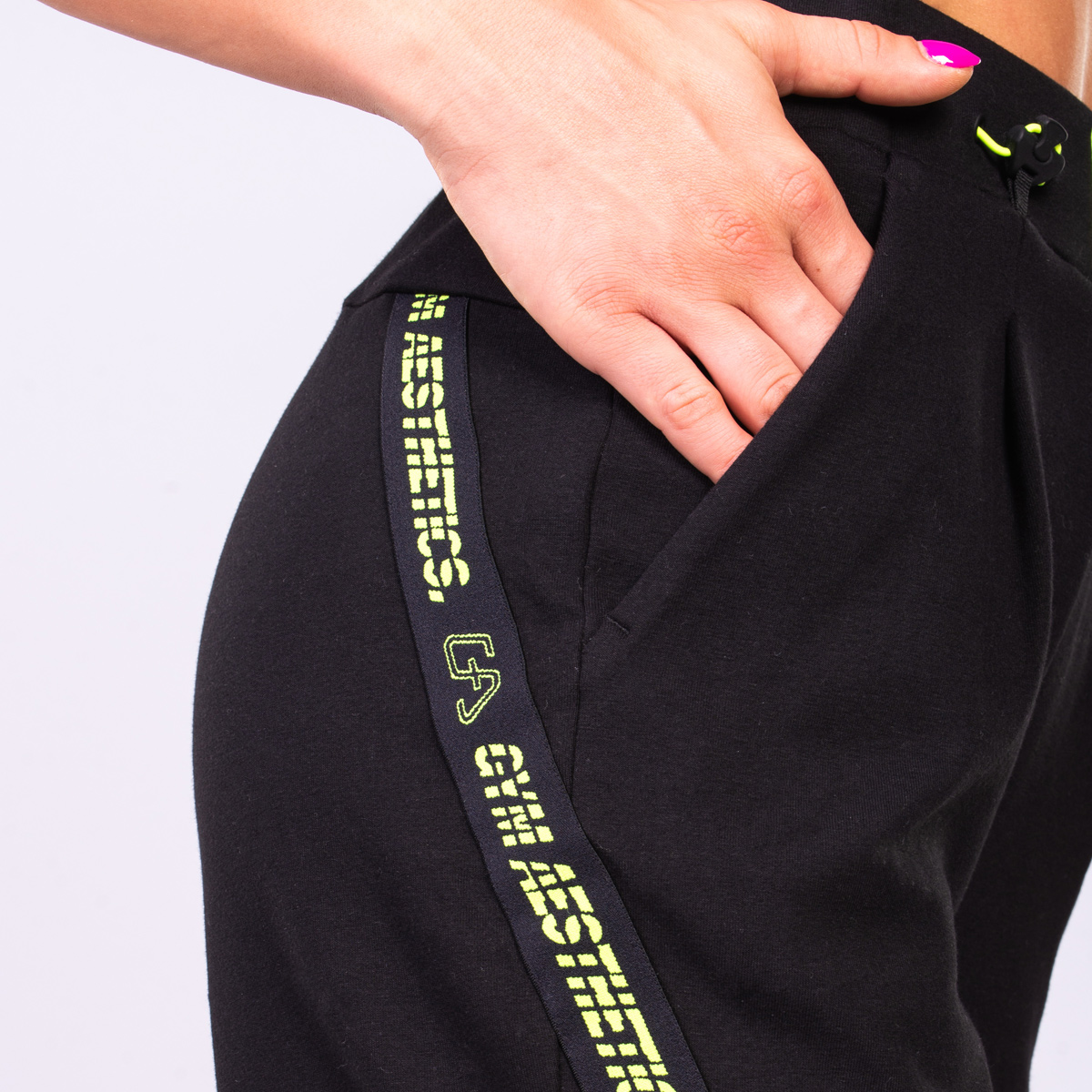 Athleisure Trendy 9 inch Shorts for Women in Black | Gym Aesthetics