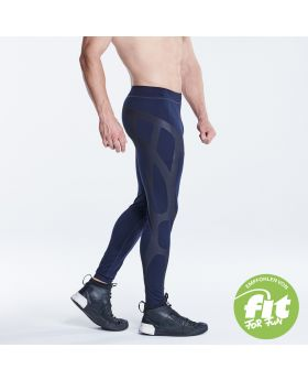 Gym Aesthetics | Supportive Compression Leggings für Herren in Marine - preview