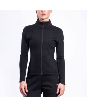 Gym Aesthetics | Taillierte Trainingsjacke für Damen in Schwarz - previw