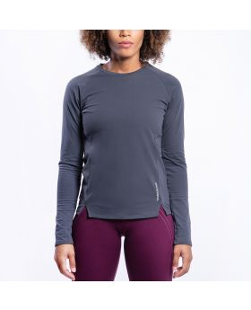 Gym Aesthetics | Performance Tight-Fit T-Shirt for Women in Charcoal - previw
