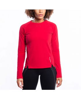 Gym Aesthetics | Performance Tight-Fit T-Shirt for Women in Red - previw