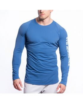 Gym Aesthetics | Performance Tight-Fit T-Shirt for Men in Blue - previw