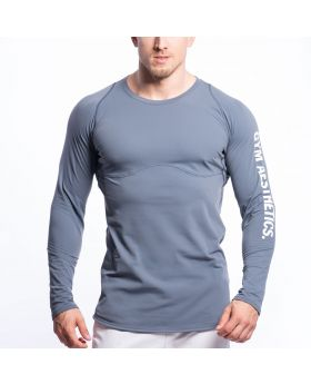 Gym Aesthetics | Performance Tight-Fit T-Shirt for Men in Grey - previw