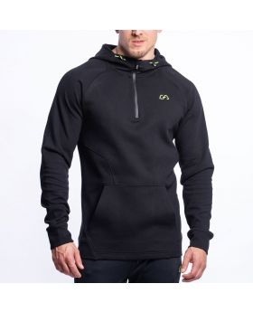 Gym Aesthetics | Performance Hoodie for Men in Black - previw