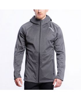 Gym Aesthetics | OutRun Functional Jacket for Men in Melange Grey - preview