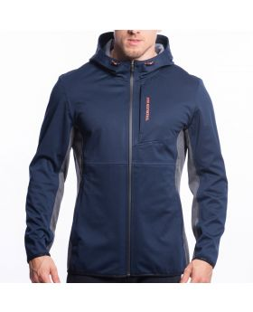 Gym Aesthetics | OutRun Multi-Functional Jacket for Men in Melange Navy - preview
