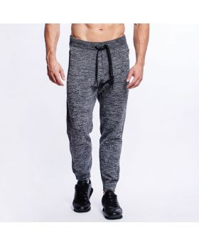 Gym Aesthetics | Active Relax Sweatpants for Men in Melange Grey - preview