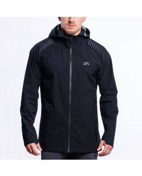 Gym Aesthetics | OutRun Rain Jacket for Men in Black - preview