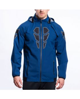 Gym Aesthetics | OutRun Rain Jacket with removable sleeves for Men in Navy - preview