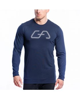 Gym Aesthetics | Training Loose-Fit T-Shirt for Men in Navy - previw