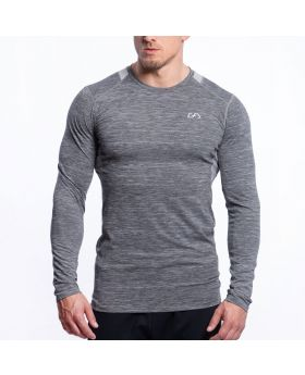 Gym Aesthetics | Performance Gym Tight-Fit T-Shirt für Herren in Melange Grau - preview