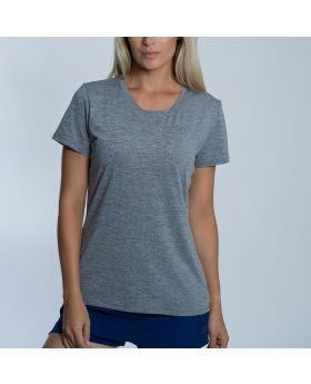 Gym Aesthetics | Training Ladies Gym Shirt in Melange Grey - previw