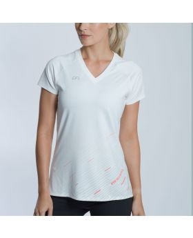 Gym Aesthetics | 'Basic Performance' Ladies Gym Sport Tee in White - previw