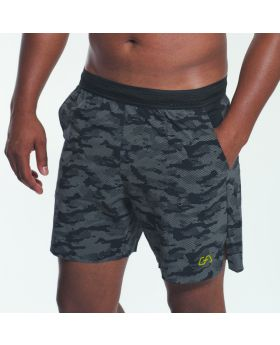 Gym Aesthetics | Sport Shorts for Men in Black with Reflective Print - preview