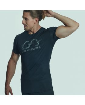Gym Aesthetics | Workout 'Intensity' Men Tight-Fit Tee in Black - previw