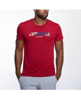 Gym Aesthetics | Workout 'Intensity' Men Loose Fit Tee in Red - preview
