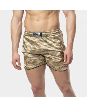 "Muay Thai Shorts ""RAWSTRNGTH"" für Herren in Gold 