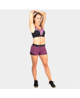 Bundle Set: High Impact Bra + 2-Layer Diversity Shorts Summer Violet
