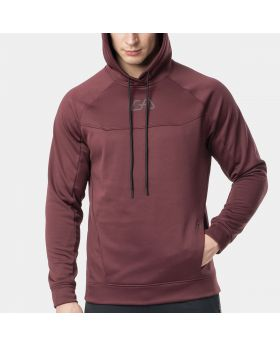 "Sports hoodie ""OutRun"" for men in burgundy 
