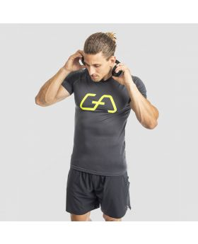 Gym Aesthetics | Raglan Workout T-Shirt für Herren in Schwarz