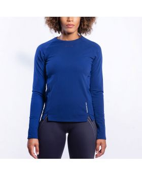 Gym Aesthetics | Performance Tight-Fit T-Shirt for Women in Navy - previw