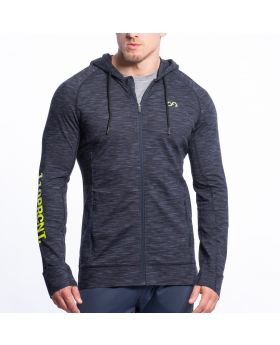 Gym Aesthetics | Training Jacket for Men in Melange Navy - previw