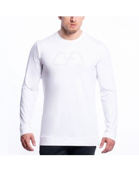 Gym Aesthetics | Training Loose-Fit T-Shirt for Men in White - previw